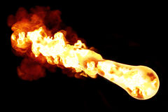 Asteroid, meteor, fireball, flame burning, contact atmosphere Royalty Free Stock Photography