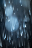 Asteroid Rain. Real picture taken at night with blurry motion Stock Image