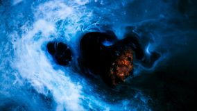 Asteroid in space. stock footage
