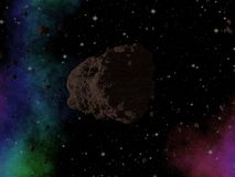 Asteroid in space Royalty Free Stock Image