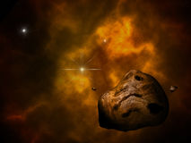Asteroid and sun Royalty Free Stock Photo