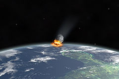Asteroid on Yucatan. 66 millions years ago ( texture nasa.gov Stock Images