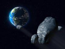 Asteroide minaccioso illustrazione vettoriale
