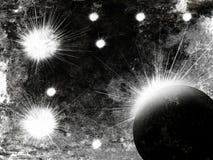 Asteroide nell'esplosione dello spazio fotografia stock libera da diritti