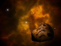 Asteroide y sol Foto de archivo libre de regalías