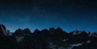 Asteroiden, die nah an Wiedergabeelementen Planet Erde 3D von fliegen Stockfotos