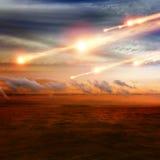 Asteroiden får effekt Royaltyfri Bild