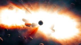 Asteroider som tätt kommer från djupt utrymme Arkivfoton
