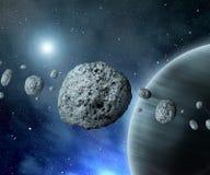 Asteroides de la correa stock de ilustración