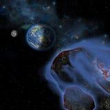 Asteroides de la tierra Foto de archivo