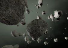 Asteroidfält Arkivbild