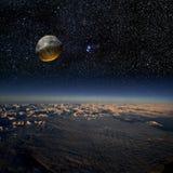 asteroidinverkan Fotografering för Bildbyråer