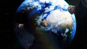 Asteroids που προέρχονται κοντά στη γη από το βαθύ διάστημα απεικόνιση αποθεμάτων
