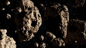 Asteroids Royalty Free Stock Photos