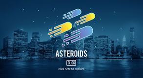 Asteroids Astronomy Exploration Nebular Concept Stock Photo