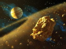 Asteroids belt Stock Illustration