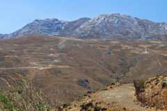 Βουνό Asterousia στο νησί της Κρήτης στην Ελλάδα Στοκ Εικόνα