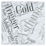 Asthma in Adolescents word cloud concept  background Royalty Free Stock Photos