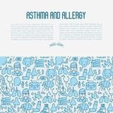 Asthma and allergy concept royalty free illustration