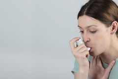 Asthma attack Stock Images