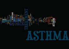 Asthma Attack Treatment Thanks To Hypnosis Word Cloud Concept Royalty Free Stock Images