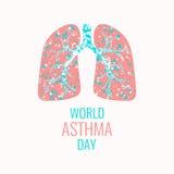 Asthma awareness poster Stock Photos