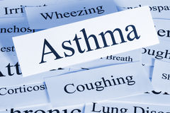 Asthma Concept. A conceptual look at asthma and the problems it brings stock image