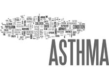 Asthma Cough Word Cloud Royalty Free Stock Images