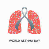 Asthma day poster Stock Photos