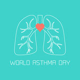 Asthma Day poster Royalty Free Stock Image