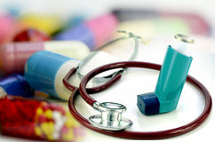 Asthma diagnostic and treatment. Royalty Free Stock Photo