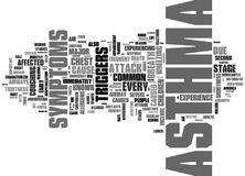 Asthma Discussed Word Cloud Royalty Free Stock Photography