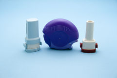 Asthma-Inhalator Stockfotos