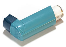 Asthma Inhaler royalty free stock images