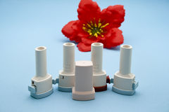 Asthma Inhaler Stock Image