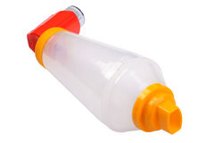 Asthma inhaler Stock Photo
