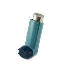 Asthma inhaler isolated on a white background. Stock Images