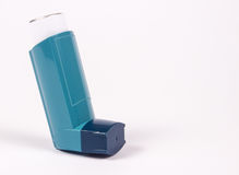 Asthma inhaler isolated on white. Stock Image