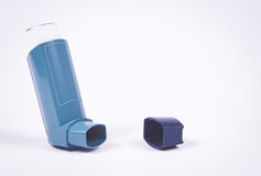 Asthma inhaler isolated on white. Royalty Free Stock Image