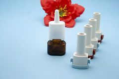 Asthma Inhaler with Nasal Spray Stock Image
