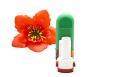Asthma Inhaler with Nasal Spray Stock Images
