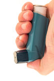 Asthma inhaler - white background Royalty Free Stock Photography