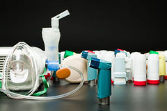 Asthma inhalers Stock Photography