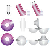 Asthma inhalers Stock Image