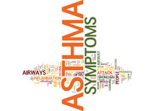 Asthma And Its Symptoms Word Cloud Concept Stock Photos