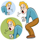 Asthma Man Royalty Free Stock Photos