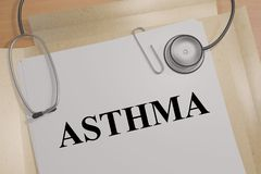 Free ASTHMA - Medical Concept Royalty Free Stock Photography - 158123347