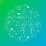 Asthma medical poster Stock Images