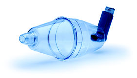 Asthma Medicine Atomizer Inhaler  Royalty Free Stock Photo