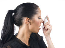 Asthma patient Stock Photos